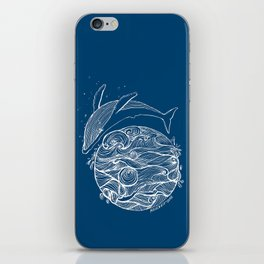 Crying whale iPhone Skin