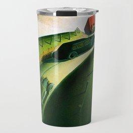 Classical Masterpiece 'Death on Ridge Road' by Grant Wood Travel Mug