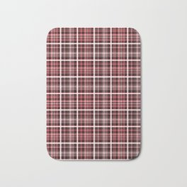 Plaid in red and brown colors . Bath Mat