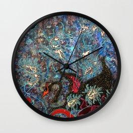 Obsidian night Wall Clock