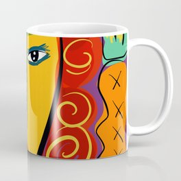 Happy New Year Art of the Day Portrait French Pop Coffee Mug