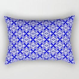 Damask (White & Blue Pattern) Rectangular Pillow