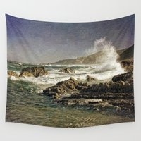 west coast Wall Tapestries featuring West Coast Splash, Algarve, Portugal by Michael Howard