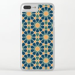 islamic geometric pattern Clear iPhone Case