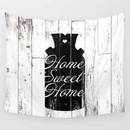 Home Sweet Home Rustic Jug Wall Tapestry