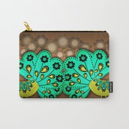 A Pair Of Copper Peacocks Carry-All Pouch