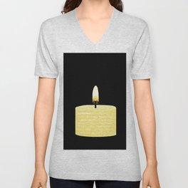 Happy Holidays Candle Unisex V-Neck