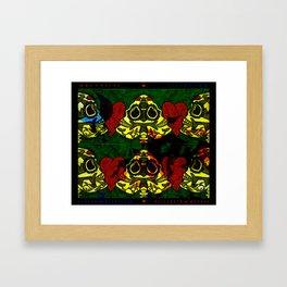Amo y Besos Symmetrical Art Framed Art Print