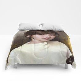 Portrait of Baifern Pimchanok Luevisadpaibul Comforters