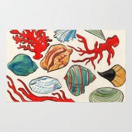 Sea Life Watercolor Rug