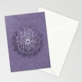 Vintage Lavender Watercolor Mandala Stationery Cards