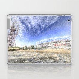 West Ham Olympic Stadium And The Arcelormittal Orbit Snow Laptop & iPad Skin