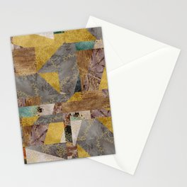 Hippie Patchwork Collage Stationery Cards