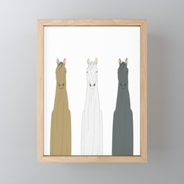 Triple Horses Line Art Framed Mini Art Print