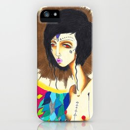Geometric Madonna  iPhone Case