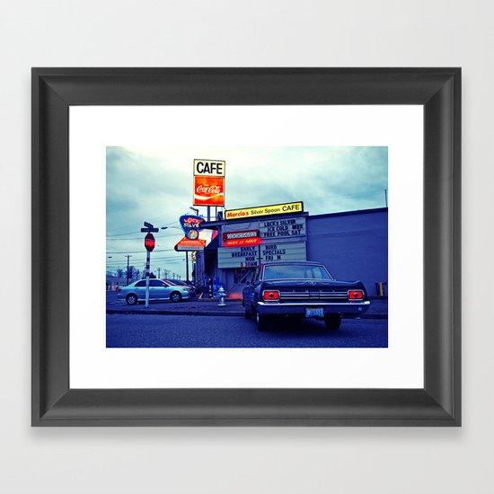 American cafe Framed Art Print