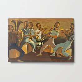 African American Masterpiece 'Harlem Musicians' WPA musical painting by Elizabeth Olds Metal Print
