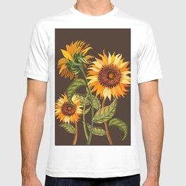Sunflowers bright retro T-shirt