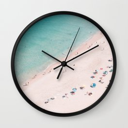 Beach Bliss - Aerial Beach photography by Ingrid Beddoes Wall Clock