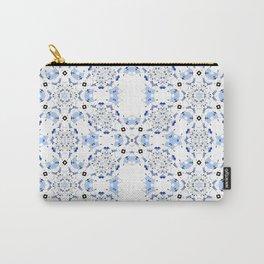 Artdeco Blue Geometric Chinoiserie Minimalism Artwork  Carry-All Pouch