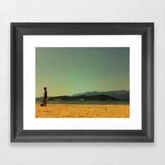 Sea kid Framed Art Print