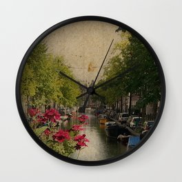 Amsterdam mon amour Wall Clock