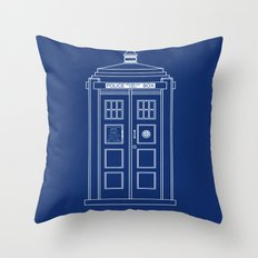 TARDIS Blueprint - Doctor Who Throw Pillow