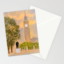 Winston Churchill And Big Ben Stationery Cards