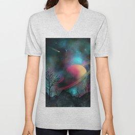 Mountain Galaxy Unisex V-Neck