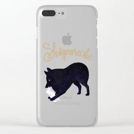 Shipwrecke (Blue and Beige) Clear iPhone Case