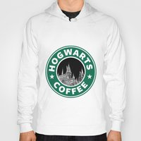hogwarts Hoodies featuring Hogwarts Coffee by Beautiful Bibliophile's Boutique