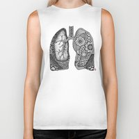 lungs Biker Tanks featuring Lungs by ericajc