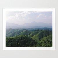 Sunny Mountains Art Print