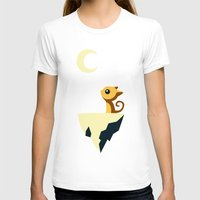 vector T-shirts featuring Moon Cat by Freeminds