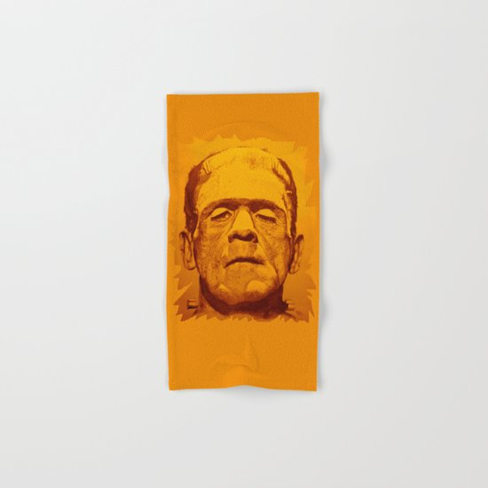 The creature - orange Hand & Bath Towel