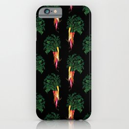 Food illustration - A beautiful bunch of carrots  iPhone Case