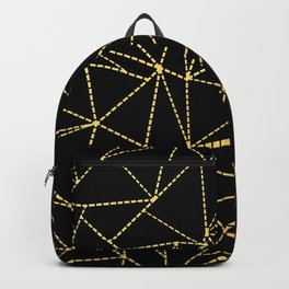 Ab Dotted Gold Backpack