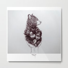 Black Bear Ball Metal Print