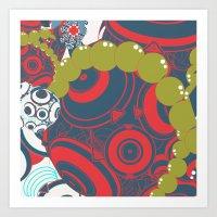 dragon ball Art Prints featuring ball by echo3005