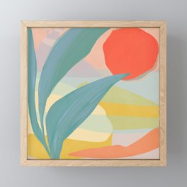 Shapes and Layers no.33 Framed Mini Art Print