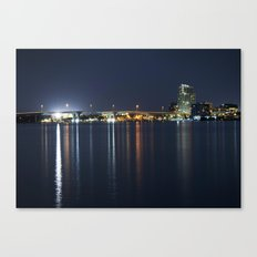 Clearwater Night Lights Canvas Print