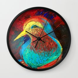 Brilliant Celebration Birdie Wall Clock