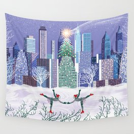 Christmas Park Wall Tapestry