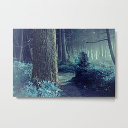 The Forest Whispers Blue Metal Print