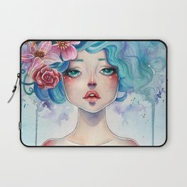 Blue Hair Laptop Sleeve