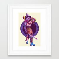 gladiator Framed Art Prints featuring Street Warriors - Gladiator by Mike Wrobel