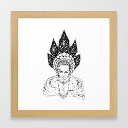 Kokoshnik Illustration Framed Art Print