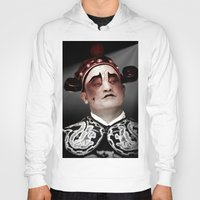 actor Hoodies featuring Chinese opera (Actor Portrait). by Ian Gledhill