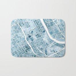 Map Nashville Tennessee Blueprint City Map Bath Mat