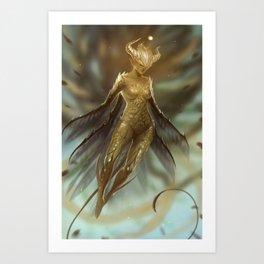 Golden Fairy Art Print